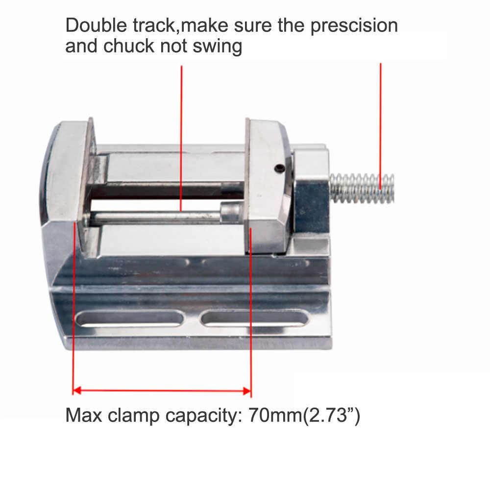 AMYAMY 드릴 프레스 바이스 드릴 프레스 스탠드 알루미늄 합금 미니 바이스 플랫 펜치 미니 벤치 클램프 수리 도구 2.5 인치