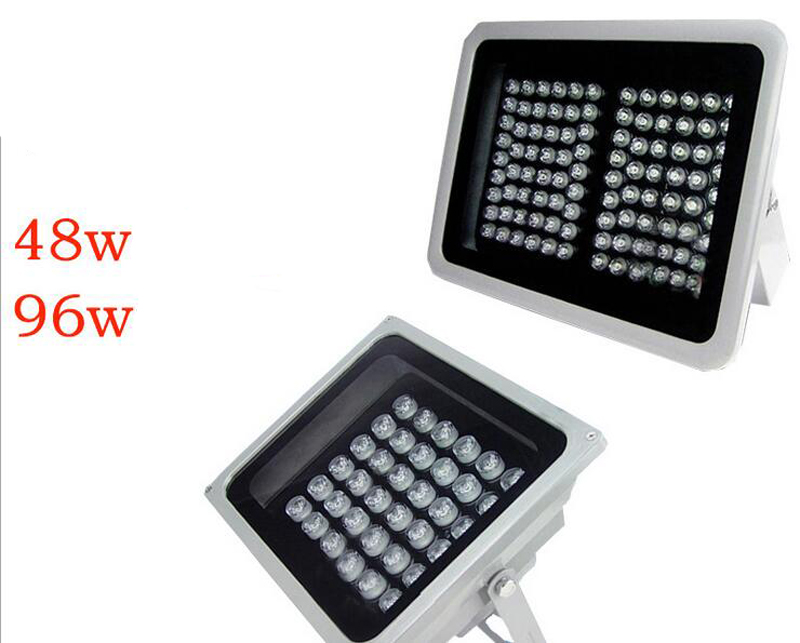 LED floodlights 48w 96w led monitoring fill light projection lamp outdoor waterproof ip65 ac85-265v advertising spot light lelight projection lamp 10w20w30w50w100w outdoor advertising project light water flooding