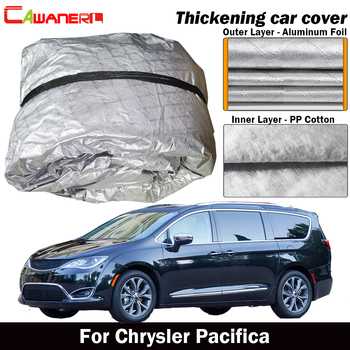 Cawanerl Waterproof Car Cover Inner Cotton Anti-UV Sun Shade Rain Snow Hail Dust Protect Cover For Chrysler Pacifica