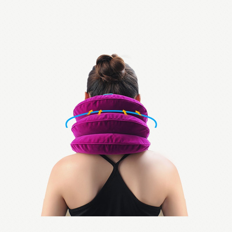 Hot Neck cervical traction device inflatable collar Head Back Neck support brace Pain relief Headache health care massage neck support braces household cervical collar air traction therapy device relax pain relief tool universal size health care