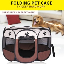 Cool Summer Portable Pet Dog House Cage Folding Dog Cat Outdoor Bed Tent Breathable Big Space Kennel For Small Medium Dogs