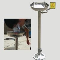 Aço inoxidável vertical irrigador lavador de olhos Olho Olho rubor torneira ferramenta