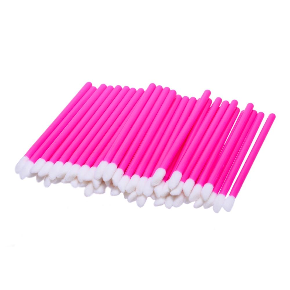 ELECOOL 50 шт. составляют набор кистей Макиллаж Тушь жезлы Кисть для губ cleaner Очистка ресниц одноразовые кисти для макияжа инструмент