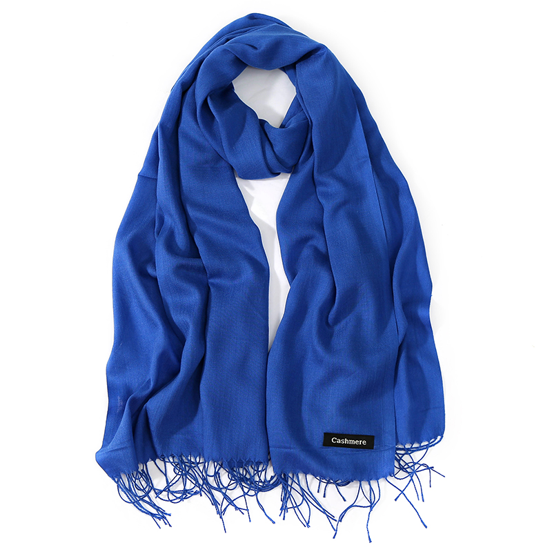 2019 New Luxury Brand Women Cashmere Solid Beach Scarf Spring /Summer Thin Pashmina Shawls and Wrap Female Foulard Hijab Stoles(China)