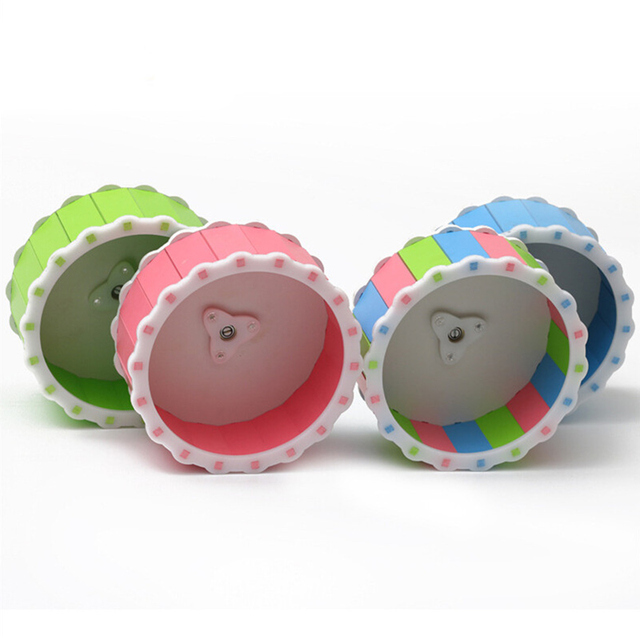 Small Pets Guinea Pig Hamster Wheel Silent roller Running Sports Round Wheel Hamster Cage Accessories Exercise Wheel for Pet Toy 1