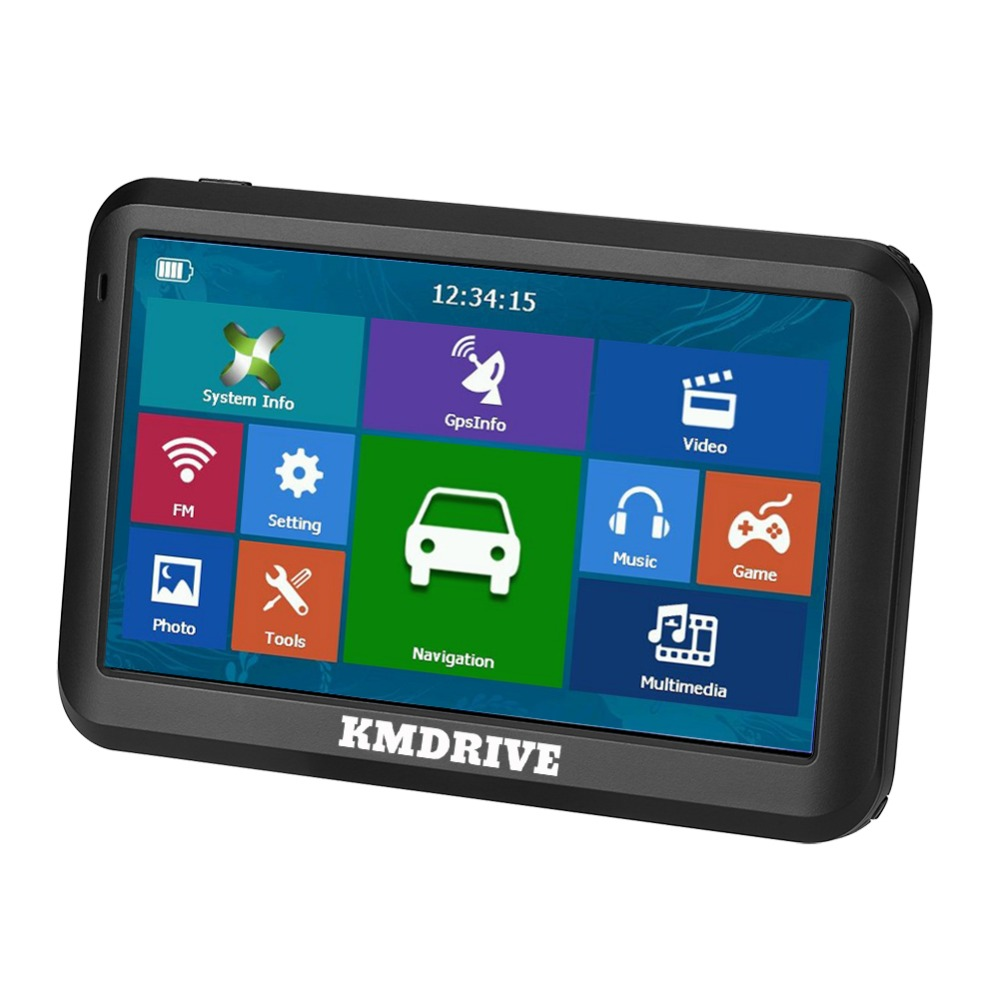 "KMDRIVE 5 "" inch Car Truck GPS Navigation Sat Nav FM 8GB MP3/MP4 Players Bundle Free maps-in Vehicle GPS from Automobiles & Motorcycles    2"