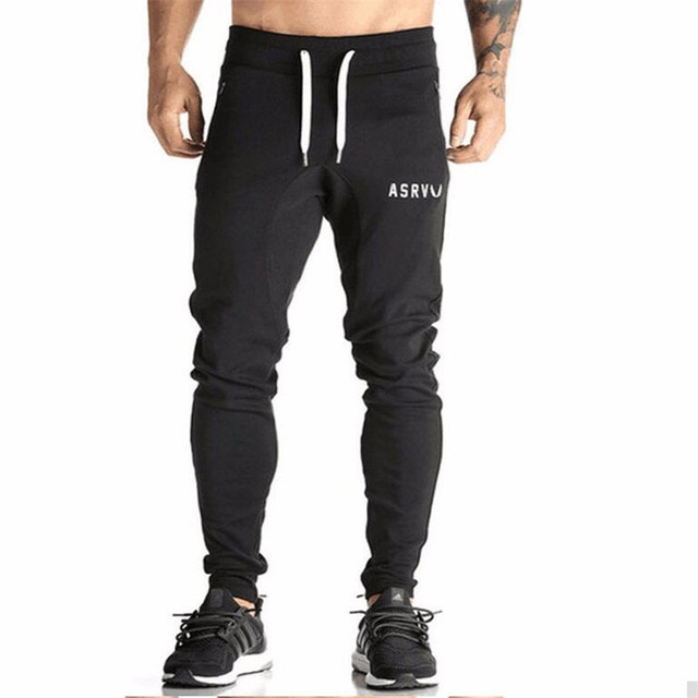 Mens Tracksuit Bottoms Cotton Fitness Skinny Joggers Sweat Pants Pantalones Chandal Hombre Casual Pants Cotton Streetwear