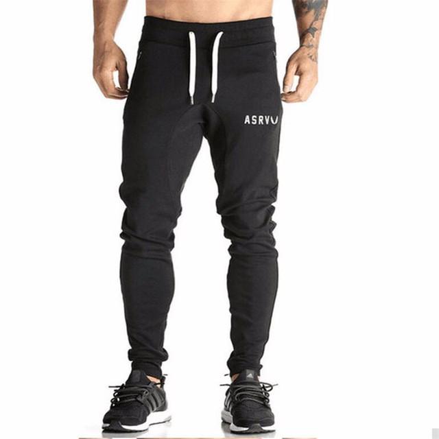Mens pantalones de Chándal de Algodón Gimnasio Flacas Joggers Sweat Pants Pantalones Chandal hombre Pantalones Casuales de Algodón Streetwear