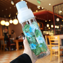 600ml 750ml Plastics Water Bottle Portable My Bottles Travel Camping bpa Free Outdoor Sports Drinking Leak Proof