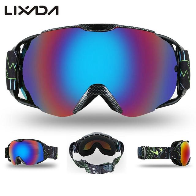 56a81997d3c8 Adult Ski Goggles Winter Snow Sports Snowboard Goggles Ventilated Anti-fog  Spherical Dual Lens for