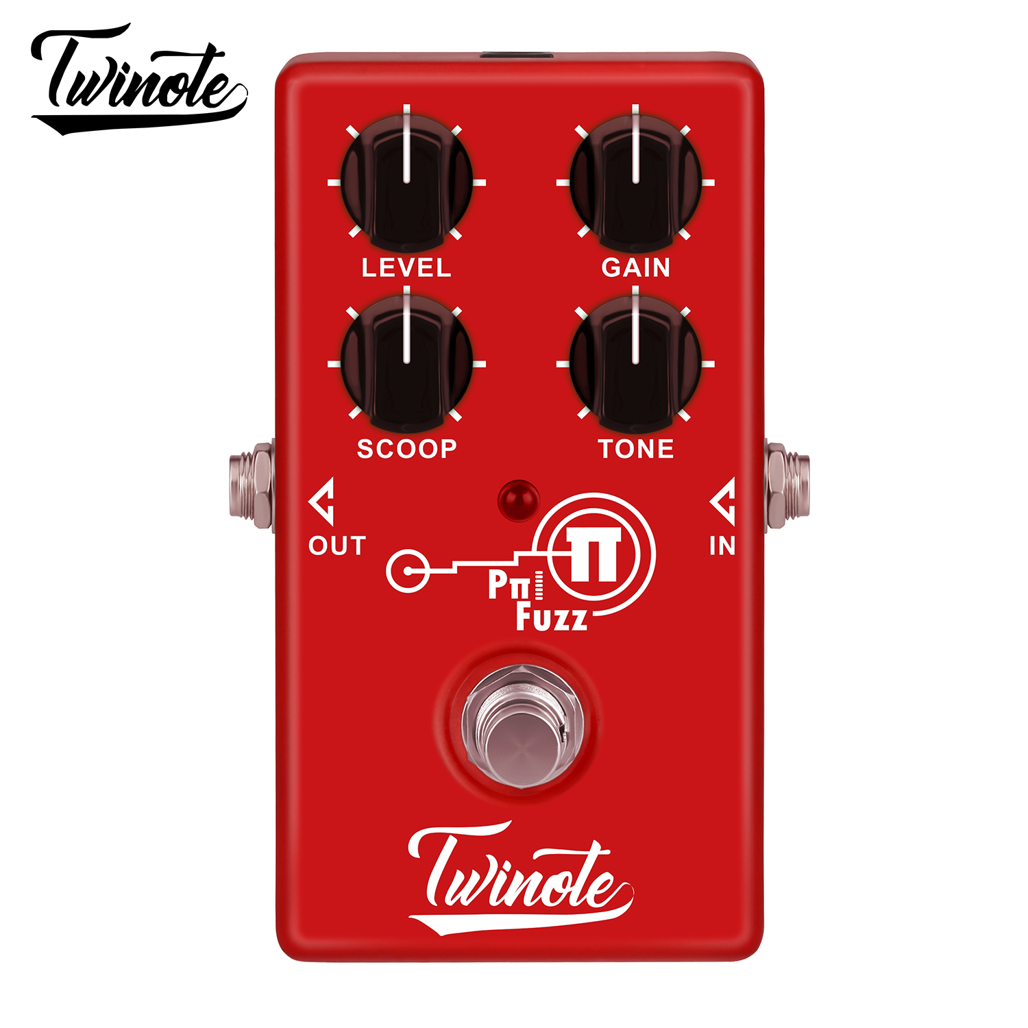 Twinote Ppi FUZZ Electric Guitar Effects Pedal Distortion to Fuzz Gain Circuit Tube Sound Stompbox image