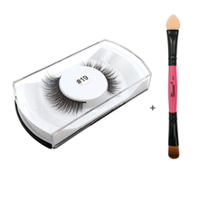1 Pair eyelashes handmade super soft makeup real siberian fake false eyelashes black 3d mink lashes single pack 19