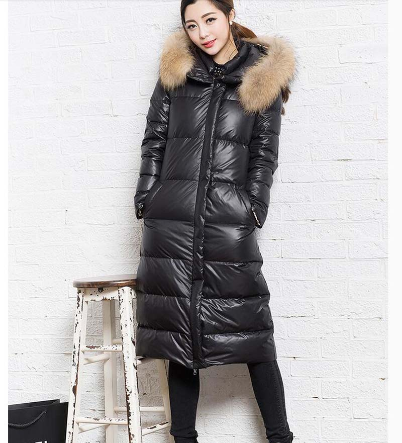 Long Women Winter   Down     Coat   Long   Down   Jackets Winter Women Warm   Down     Coat   FurTrim Hood   Coat