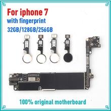 Заводские разблокированные хорошая протестированная материнская плата для iphone 7 4,7 дюймов материнская плата, 32 ГБ 128 ГБ 256 с/без сканера отпечатков пальцев Logic панели