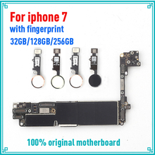 Фабрика разблокирована хорошо протестирована материнская плата для iphone 7 4,7 дюймов материнская плата, 32 ГБ 128 ГБ 256 ГБ с/без Touch ID логические платы