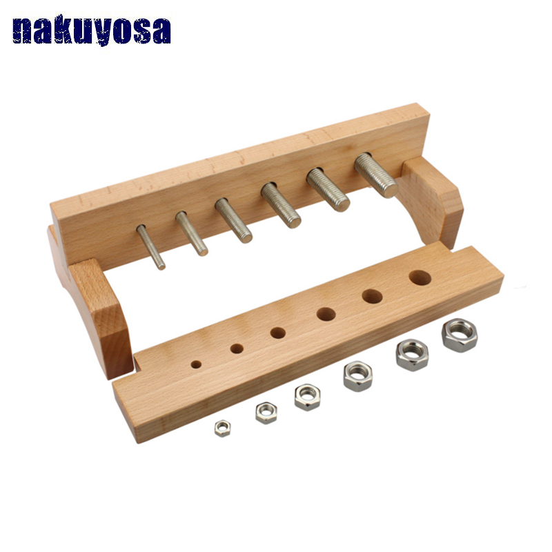 Screw and nut toys Montessori teaching aids Early Childhood Intelligence Educational Toys Kids Learning & Education funny wooden balance scale montessori education wooden toys libra pendulum early learning weight child kids intelligence toys