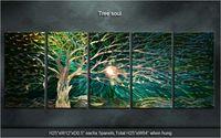 Оригинальный дерево Soul/вечнозеленого дерева современный ручной Металл Книги по искусству абстрактный Скульптура настенная живопись специ