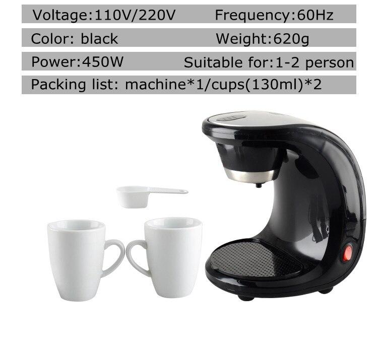 gotejamento café americano, 110v 220v preto