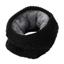 Хит, Женский Зимний вязаный шарф, воротник-хомут, бархатный теплый шарф, Круглый, бесконечный, толстый, шаль, женские модные аксессуары