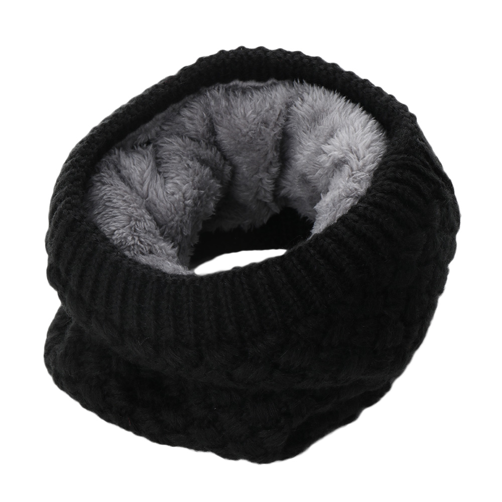 Hot Women Winter Knitted Scarf Neck Cowl Collar Velvet Warm Scarf Circle Infinity Cable Thick Shawl Female Fashion Accessories