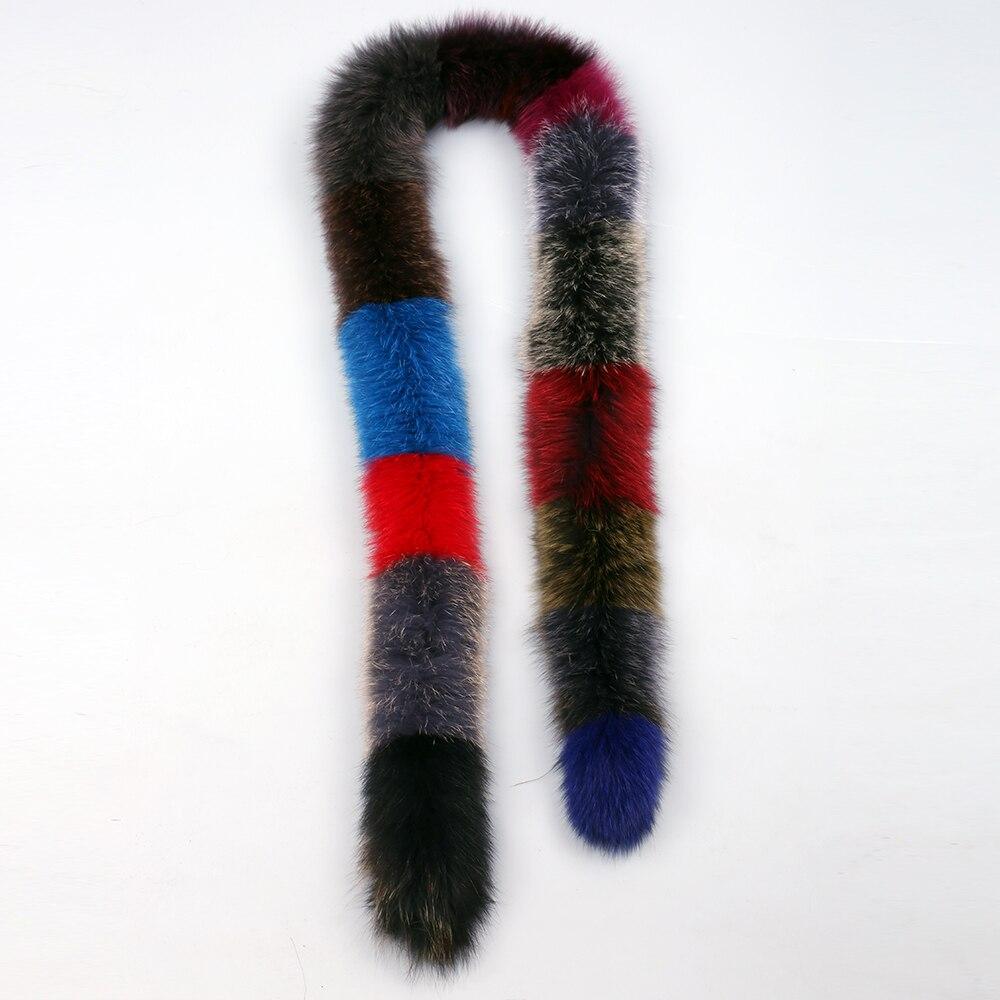 Real Fox Fur Long Scarf Women/'s Fashion Fur Scarves Winter Wraps Warm Multicolor