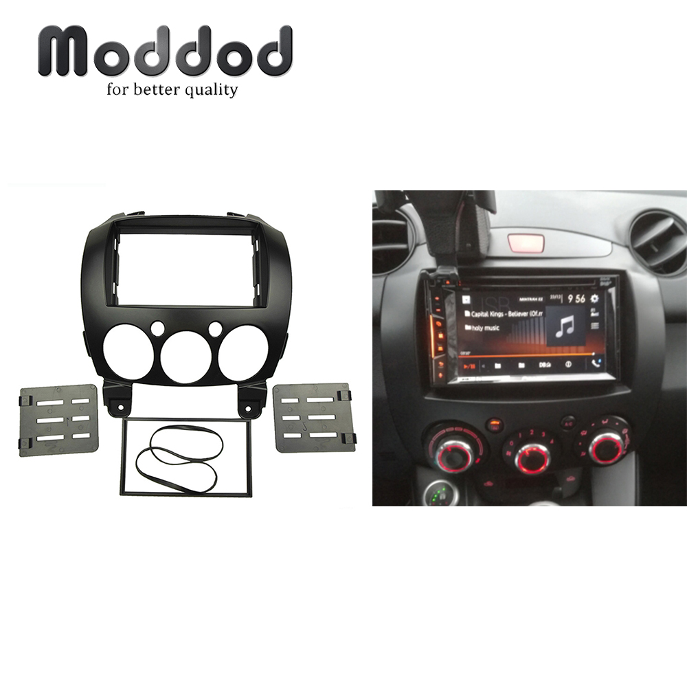 Double Din DVD Stereo Panel For MAZDA 2, Demio 2007+ Radio DVD Stereo Panel Dash Install Trim Kit Face Surround FrameDouble Din DVD Stereo Panel For MAZDA 2, Demio 2007+ Radio DVD Stereo Panel Dash Install Trim Kit Face Surround Frame