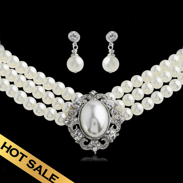 Special Jewelry Sets Necklace & Stud Earrings Ceramic Beads Classic Multi-layer Design Free Shipping Jewelry TZN04A12C01