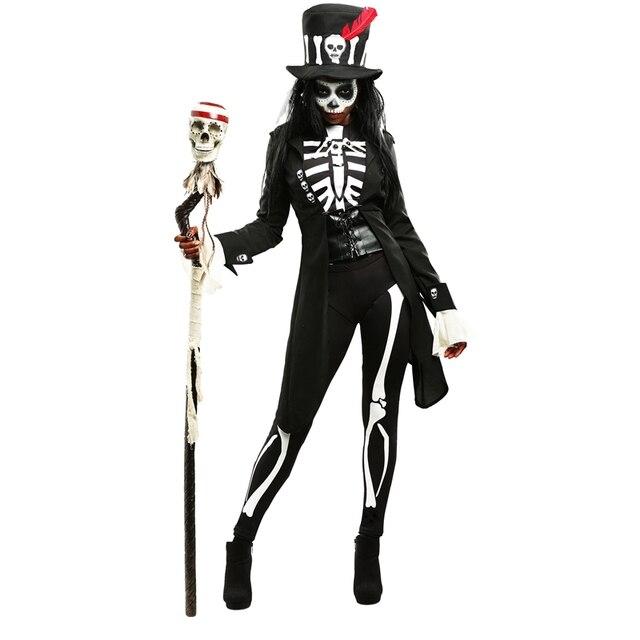 Erwachsene Geheimnis Voodoo Witch Skeleton Frauen Halloween Kostüm ...