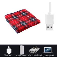 Electric Heating Blanket USB 5V Safety 88x65cm Portable Winter Warming Heated Carpet for Car Home Office  Pet Removable Washing цена в Москве и Питере