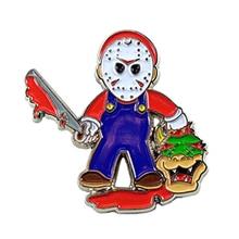 Brooch Horror Friday Jewelry Badge Jason-Mask 80s The Gift Retro Halloween Slay-Pin 13th
