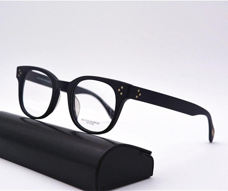 vintage optical unisex wide glasses frame oliver peoples ov5236 afton eyeglasses frame oculos de grau eyewear frames in eyewear frames from mens clothing - Wide Eyeglass Frames
