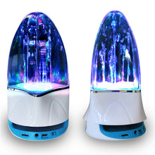 Wireless bluetooth portable speaker Colorful lights dance fountain music subwoofer