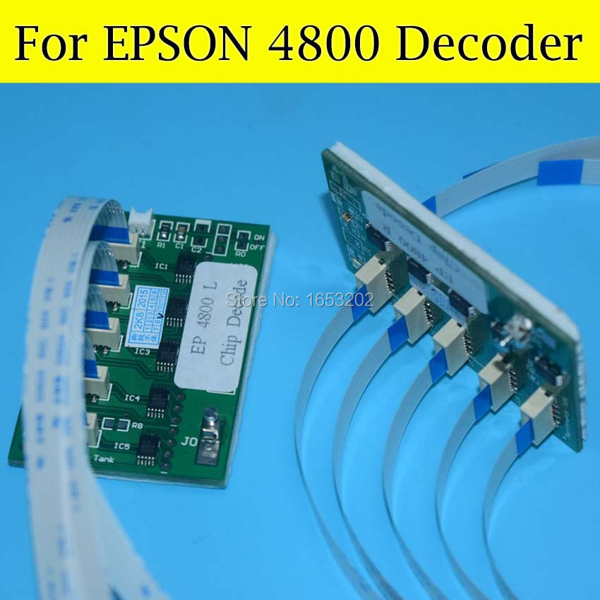 Stylus PRO 4800 Chip Decoder Card For Epson Wide Format Printer 4800 T5651-T5657 T5659 Ink Cartridge chip decoder for ep stylus pro 7400 9400 printer