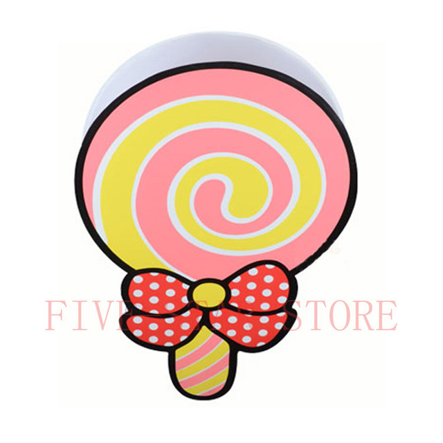 China fashion lovely green pink lolly lollipop LED kids ceiling ...