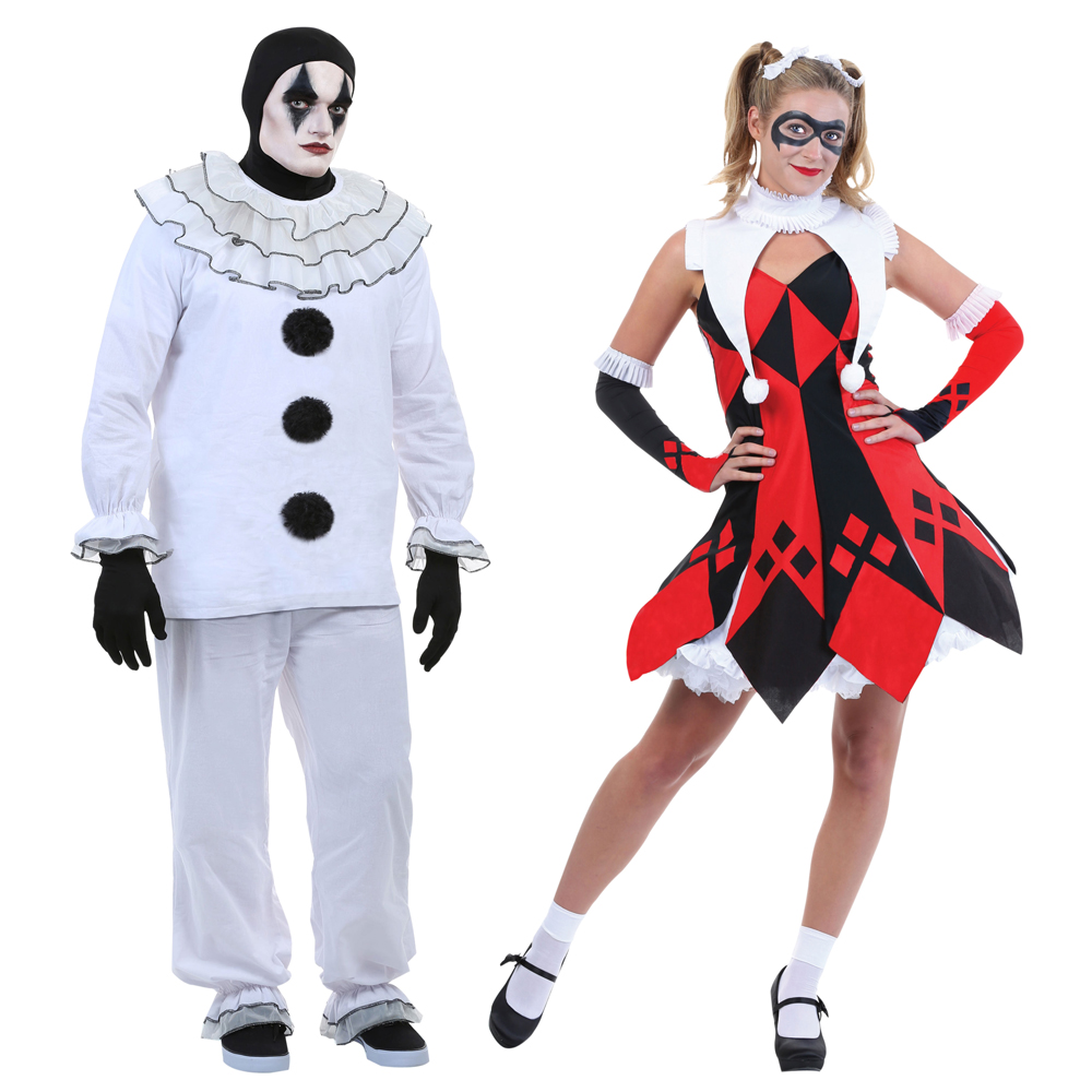 Carnival Costumes Funny Joker Cosplay Clown Costume Adults Man Women Party Dress Up Clown Clothes Suit