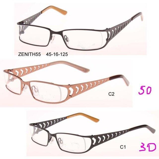 men women metal optical Frames Sports Eyewear Plain Glass Spectacle ...
