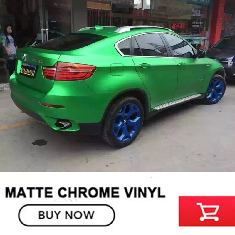 real Effect green body decals Matte chrome vinyl wrap for jeep renegad for bmw air release green change color film film for change