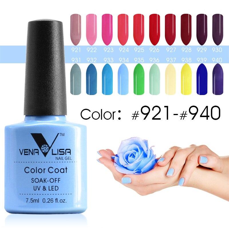 Venalisa ногтей Цвет GelPolish canni Маникюр завод новые продукты 7.5 мл Лак для ногтей LED & UV Soak Off Цвет гель лаки лак