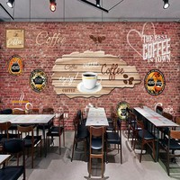 3D photo wallpaper Europe the United States brick wall mural dream eat shop bar coffee shop background wallpaper