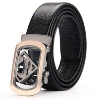 New Arrival Top Grade Fashion Cowskin Jaguar Brand Buckle Man Belt Genuine Leather Automatic Buckle Brand