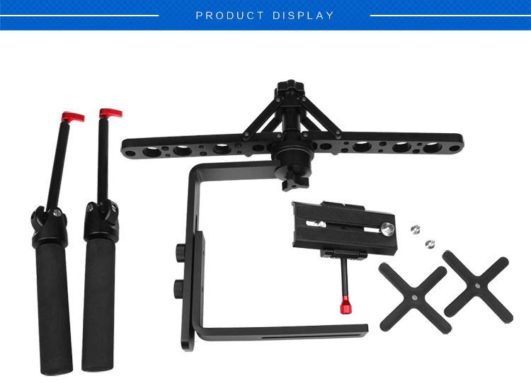 Estabilizador de cámara de vídeo cardán de mano ajustable de aleación de Allo para cámara DSLR videocámara 6 kg carga - 5