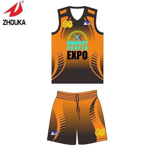 MOQ 5 Stücke Heißer verkauf Zhouka ärmel Basketball jerseys ...