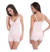 Taoqueen Cotton Breastfeeding Suit Maternity Wire Free Before (2 Piece )Open Buckle Vest for Pregnant Women Pregnancy Underwear