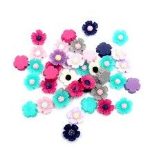 Embellishments Crafts Scrapbooking-Accessories Rhinestones-Decorations Resin Flowers