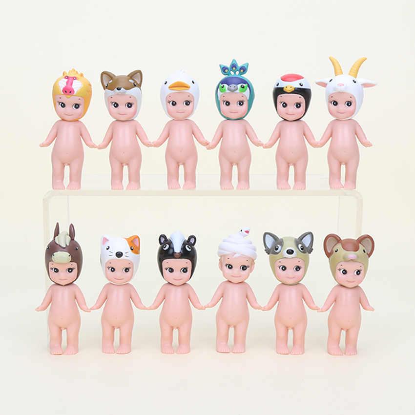 12 pçs/set Sonny Anjo Boneca Sonny Anjo Cupido anjo série animais PVC Boneca Figura Bonito Brinquedos Para Crianças 7 cm