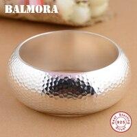 Балмора 100% натуральная 925 серебряные браслеты для Для женщин Для мужчин подарок Классический Модные украшения около 19 см браслет Высокое ка