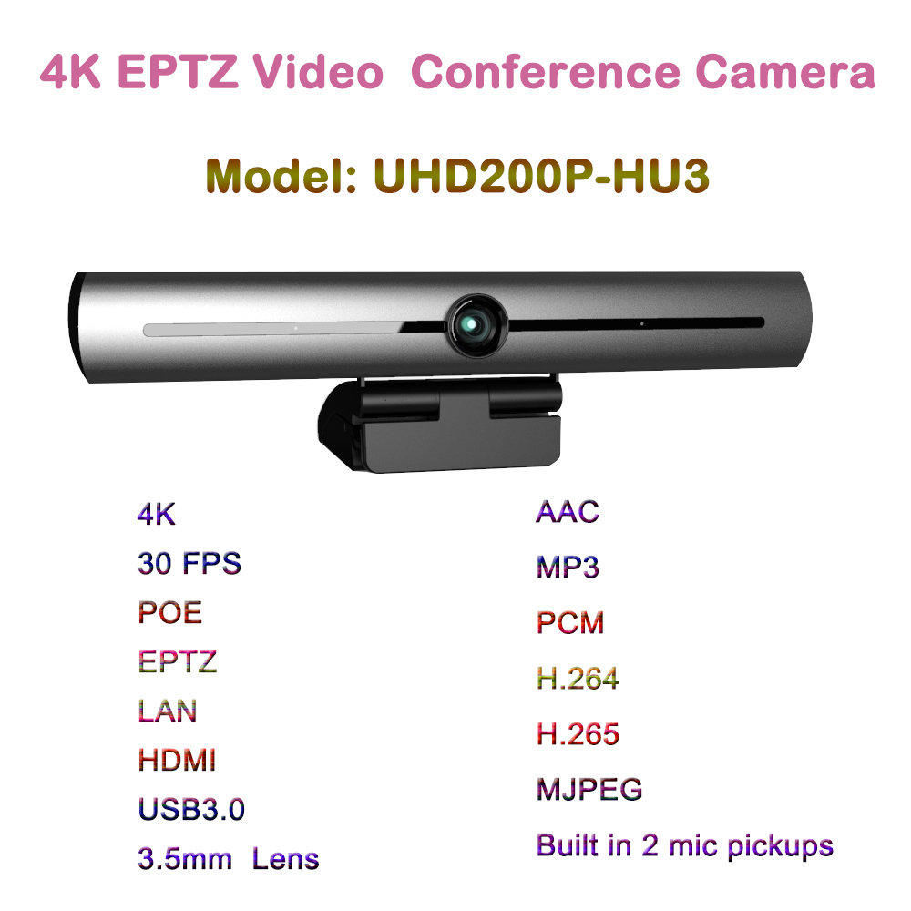 4k Ultra HD HDMI IP USB3.0 Webcam USB video Wide Angle 93 degree video conferencing Eptz camera POE