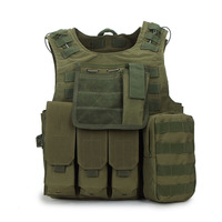 Camouflage Tactical Vest Military Molle Carrier Vest Outdoor Training Hunting Jungle Equipment CS Training Combat Uniform