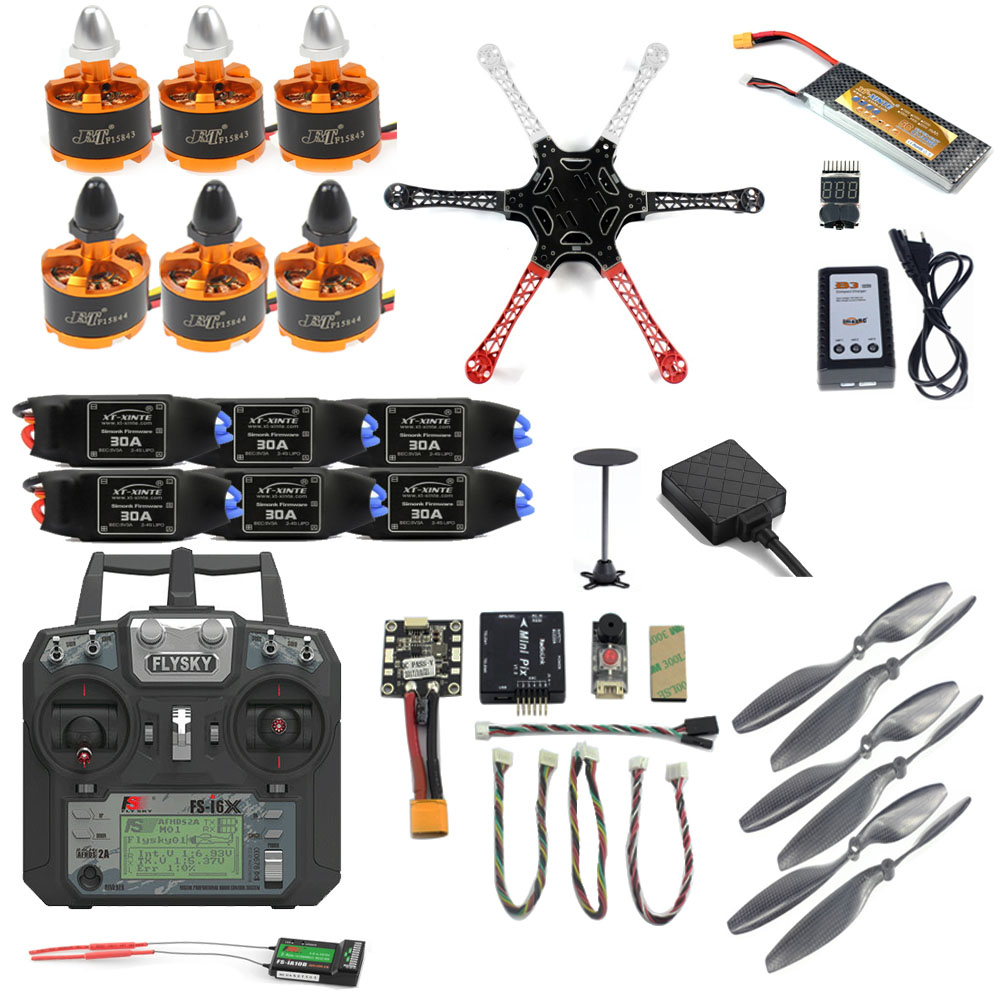 JMT Plein BRICOLAGE F550 Drone Kit 2.4g 10CH RC Avions Radiolink Mini PIX M8N GPS PIXHAWK Maintien D'altitude FPV mise à niveau