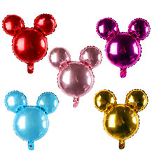 Mickey Minnie head foil balloons cartoon Minnie mouse birthday party decor baby shower helium balloon lovely toys(China)